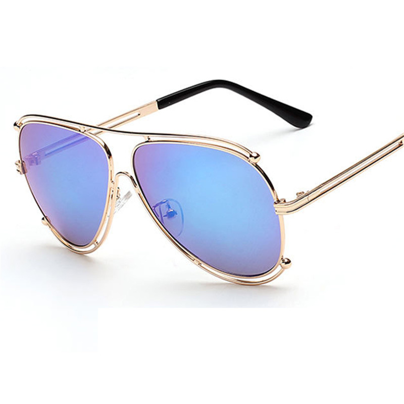 womens designer aviator sunglasses  mirror coating lenses Picture - More Detailed Picture about 2016 ...