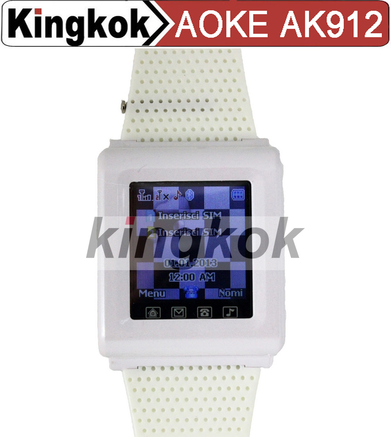 2015 AOKE AK912 1.44'' 160x128 Touch Screen Smart Watch Mobile Phone with SIM Card Slot + Bluetooth + FM(China (Mainland))