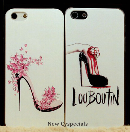 Luxury Brand Case for iphone 6 Pink High Heels Shoes/Perfume/Handbags Hard Cover for iPhone 6 Plus Cell Phone Bags Cases Skin()