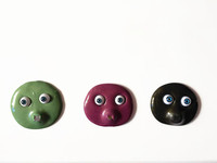 super magnetic handgum silly putty with Acrylic Monster Eyes green black pink golden colour