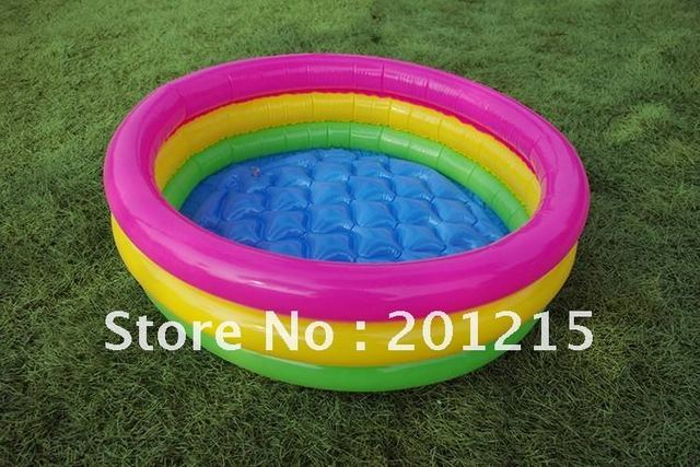 60cm 3 layers pvc inflatable swimming pool, baby water pool