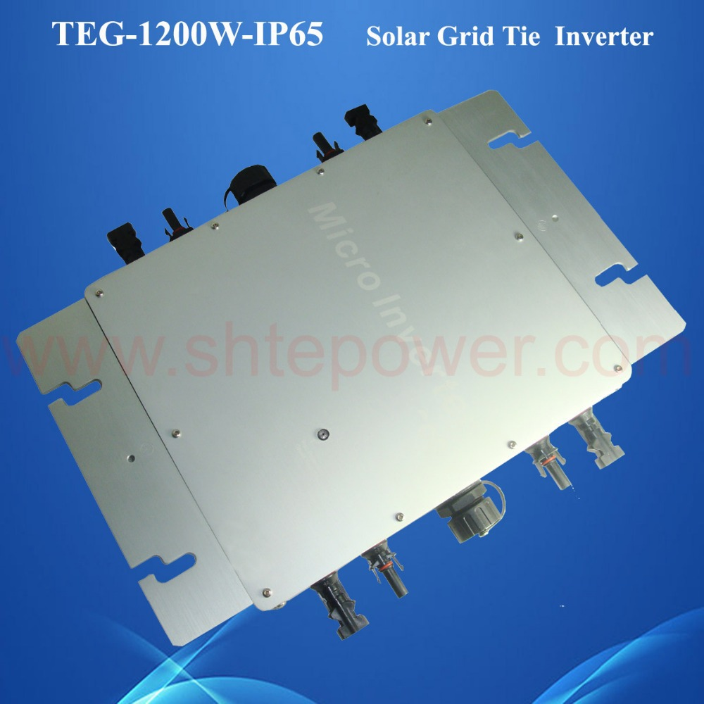 IP65 waterproof micro grid tie inverter mppt 1200W for solar powered solar system DC22-50V(China (Mainland))