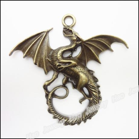 24pcs Vintage Charms Dragon Pendant Antique bronze Zinc Alloy Fit Bracelet Necklace DIY Metal Jewelry Findings<br><br>Aliexpress