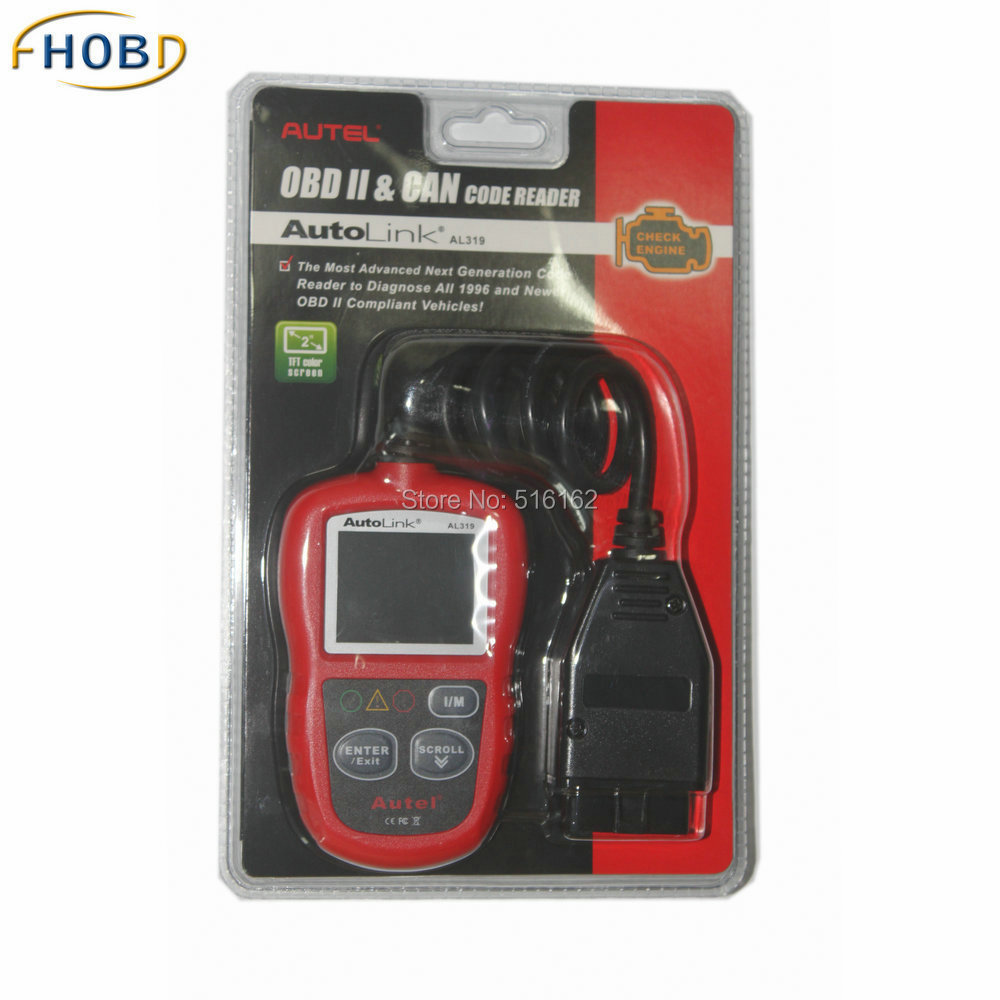 Original Autel AutoLink AL319 OBD II & CAN Domestic Asian and European Scan Tool OBD2(China (Mainland))