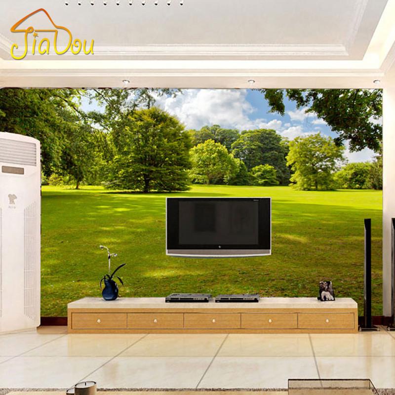 Custom photo wallpaper 3d nature landscape living room for 3d nature wallpaper for living room