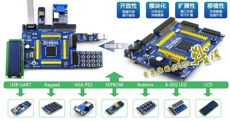 EPM1270T144 C5N EPM1270 CPLD  development board core-board system board