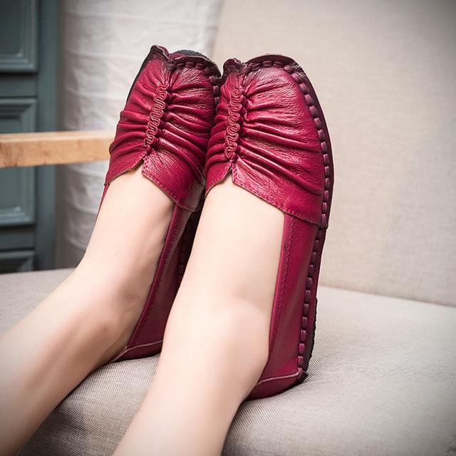 Женская обувь 2016 новинка из натуральной кожи на плоской подошве женщина мокасины ...