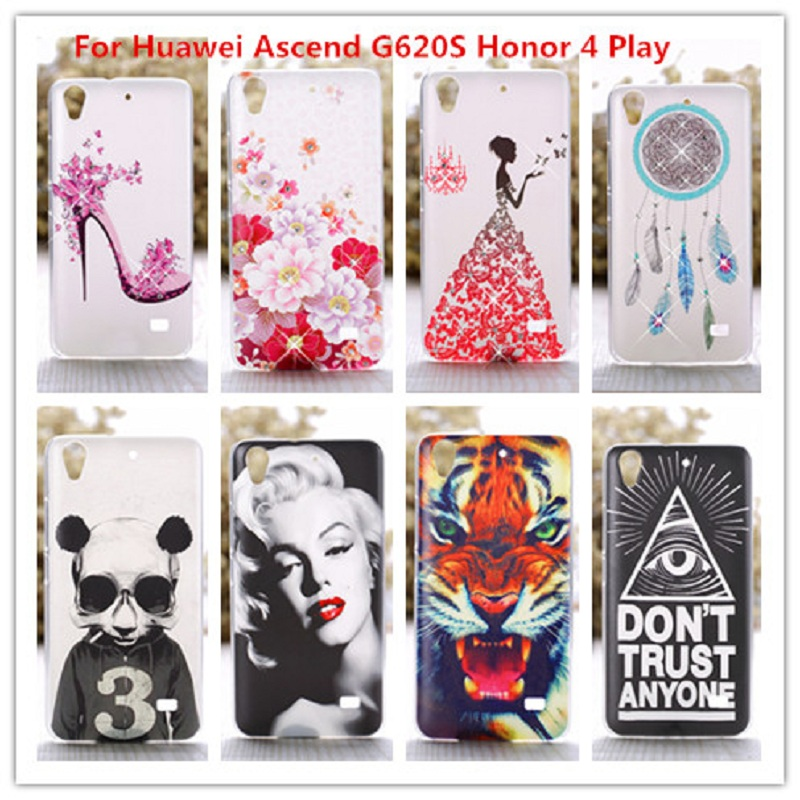 Luxury Crystal Diamond 3D case for Huawei Ascend G620S /Bling Shine Hard Protector Cover For Huawei Honor 4 Play C8817E C8817D