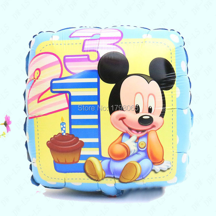 18 Inch Mickey balloons inflatable foil balloon for mickey mouse party Party air balls Birthday baloon helium balls 10pcs/lot(China (Mainland))