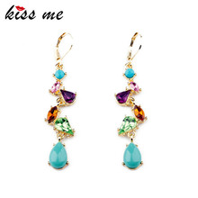 ed00412 shijie New Styles 2013 Fashion Women Jewelry  Water Drop Elegant Multicolor Earrings(China (Mainland))