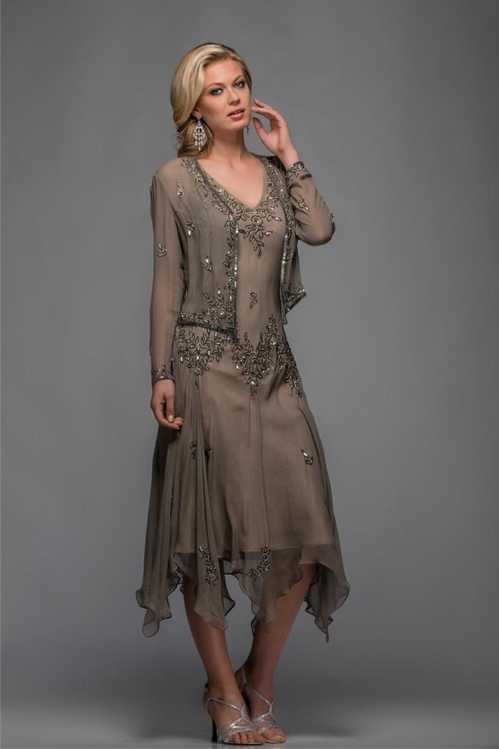 Popular Tea Length Mother of The Bride Dresses-Buy Cheap Tea ...