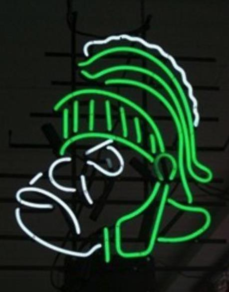 "Business Custom NEON SIGN board For NCAA College Basketball Michigan State Spartans BEER BAR PUB Club Shop Light Signs 16*13""(China (Mainland))"