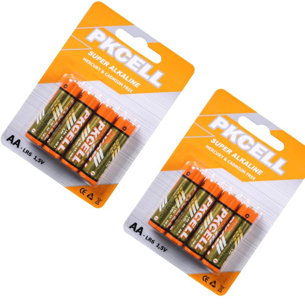 Сухая электрическая батарея PKCELL 8 /2Blister 1.5volts LR6 2A