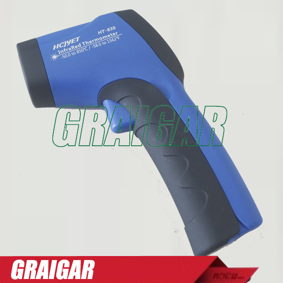 Portable laser Infrared thermometer HT-835 (-50 TO 850 Celsius degree) Celsius Fahrenheit changeable temperature meter<br><br>Aliexpress