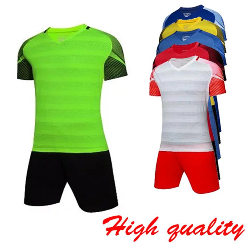 Football Jerseys 2017 Perfect quality Slim Short sleeve Men's Soccer Sets Breathable survetement football Uniforms M-4XL(China (Mainland))