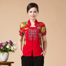 High Quality Summer Cotton Chinese Style Women Tang Suit Tops Blouse Vintage Traditional Chinese Shirt L XL XXL XXXL 4XL T37