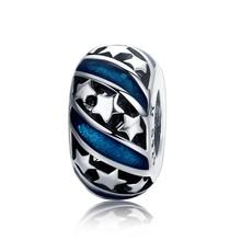 WOSTU prawdziwe 925 srebro 15 style serce i wyczyść CZ Spacer korek koraliki fit Wostu oryginalny urok bransoletka biżuteria CQC593(China)