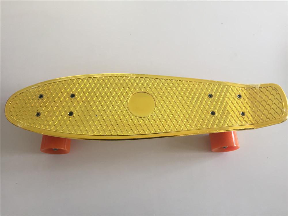 Fashion Kids Mini Fish Skateboard Shine Yellow Plastic Cruiser Board Completes Nologo 22 Banana Skateboard<br><br>Aliexpress