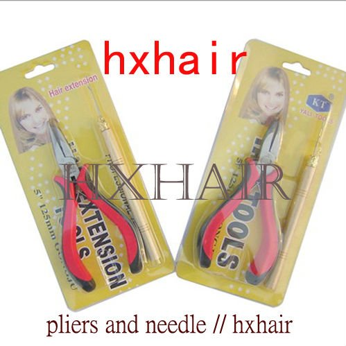 Freeshipping - 20pcs No.3 Pliers and Pulling Needle ( Curving Head with Teeth ) / Professional Hair Extension Tools<br><br>Aliexpress