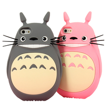 style 3D Japan Cartoon animals cute Totoro cat soft silicone case Iphone 4 4s/5 5s/SE/6/6s/6plus/6s plus - BODA Trading Company store