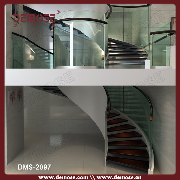 residential steel stair with glass railing system in stairs from home