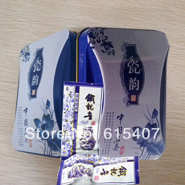 China anxi tieguanyin oolong tea tie guan yin luzhou-flavor tieguanyin tea premium with blue and white porcelain gift 10pcs/ box
