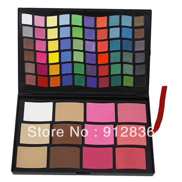 72 Pcs Makeup Palette Eye Shadow Blush Foundation HP72 Pro Eyeshadow Sixplus