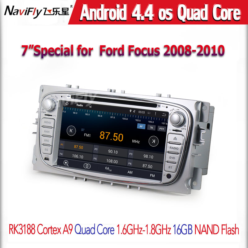 Free shipping car gps navigator for FOCUS 2 /MONDE O/S-MAX/CONNECT 2008-2011 with android4.44 Quad-core systems bt dvd gps(China (Mainland))