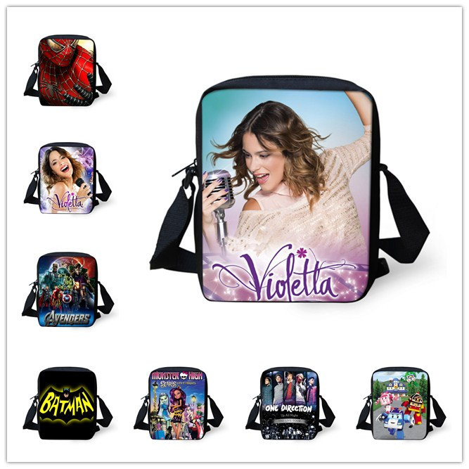 2015 Fashion Women Messenger Bags Violetta Crossbody Bag for Girls Boys Small 3D Cartoon Shoulder Bags Men's Outdoor Travel Bags(China (Mainland))