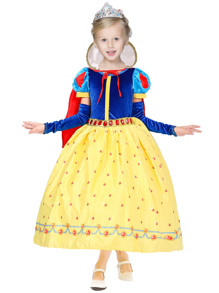Fashion ankle length princess snow white costume girl party dress for birthday outfits<br><br>Aliexpress