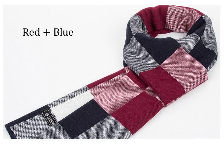 Fashion Luxury brand scarf Men winter real cashmere & Artificial wool scarf Mens Big Size plaid blanket Scarves bufandas