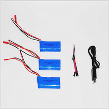 3pcs 7.4 V 1500 mah li-po battery and USB charger 3 in 1 cable for DH9053 9101 mjx f45 9118 rc Helicopter parts