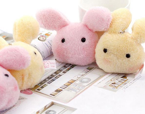 Super Kawaii 10*4CM Plumpy BOBO Rabbit Plush Stuffed TOY DOLL - Phone Charm Strap Pendant Lanyard DOLL BAG Key Chain DOLL TOY(China (Mainland))