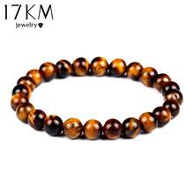 Fashion Tiger Eye Love Buddha Bracelet Elastic Rope Chain Lava Stone Bracelets Women Men Fine Jewelry pulsera brazalete CS16(China (Mainland))