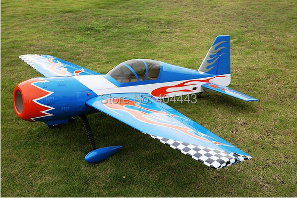 2014 New Balsa RC Airplane Gas YAK54 Blue 50cc 85in/2159mm 3D Aerobatic Model ARF(China (Mainland))