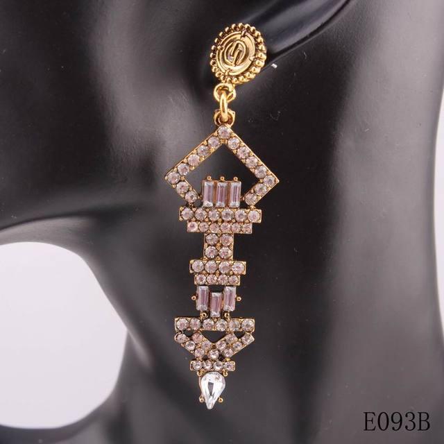 Мода 2016 новый бренд дизайн большой себе кристалл висячие серьги для женщин ювелирные рождественские подарки