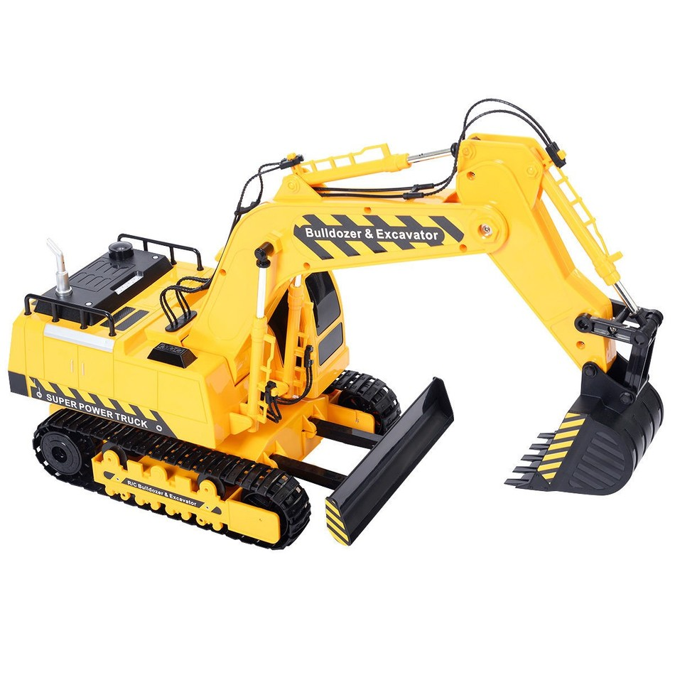 1/18 5CH Remote Control RC Excavator Construction Bulldozer Digger Truck Deliver From USA(China (Mainland))