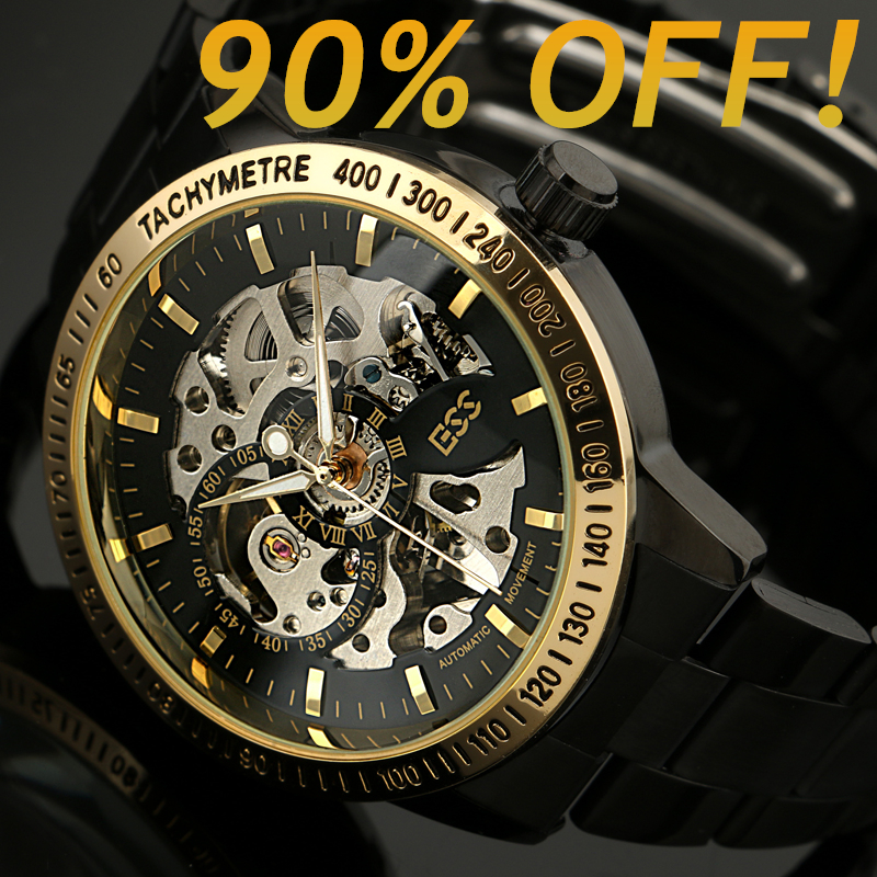 Father's day Men's Skeleton Dial New Fashion Stainless Steel Luxury Stylish Design Classic Automatic Mechanical Watch WM399-ESS(Hong Kong)