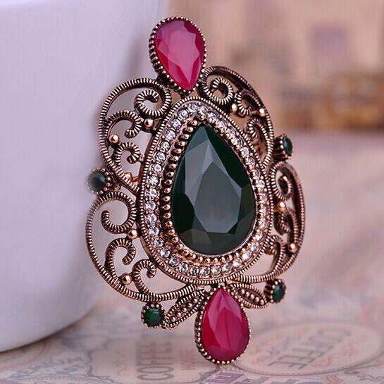 New Vintage turque broche Pins Collares fleur Broches Bijuteriras mode  femmes Hijab turc accessoires marque chapeaux