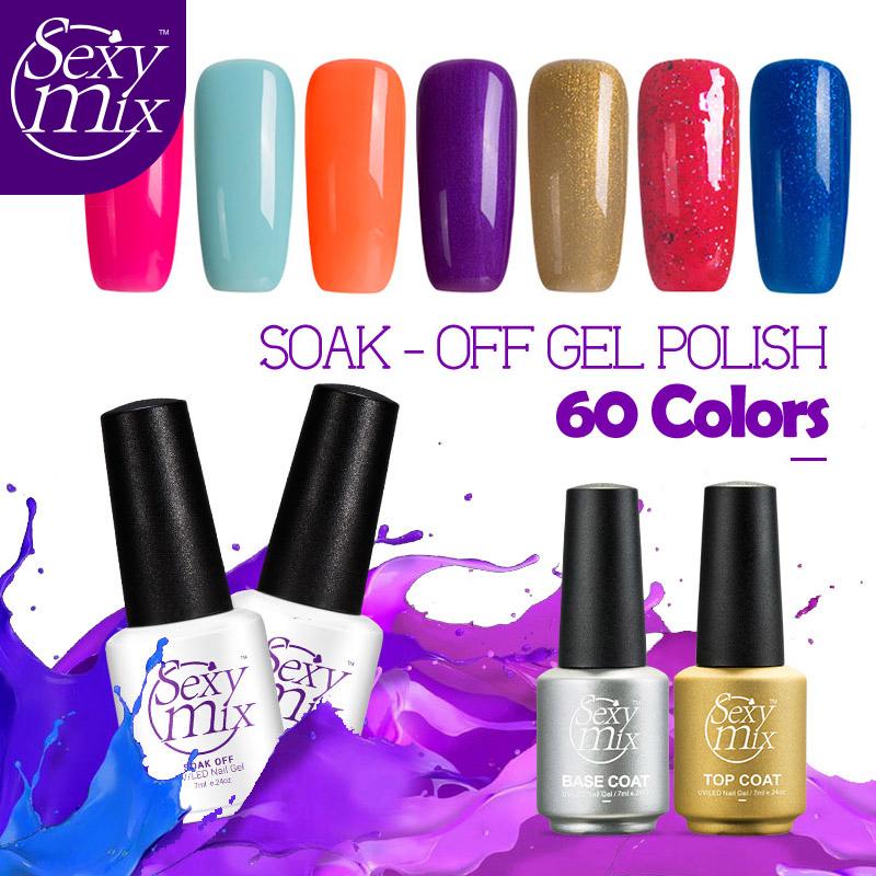 Sexy mix 7ML Shiny Color Gel Polish Fresh Color Series UV Nail Gel Led Gel Polish Long Lasting DIY Nail Art Gel Lacquer(China (Mainland))