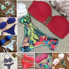 21 Colors Chic triangle Bikini Sets Sexy Halter Side-Ties Bohemia Summer Style Swimsuit Swimwear 930red(China (Mainland))