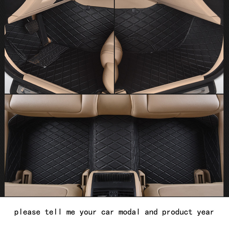 for jeep Wrangler brand leather Wear-resisting Car floor mats black grey brown beige Non-slip waterproof 3D car floor Carpets<br><br>Aliexpress