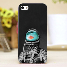Underwater astronaut Design Customized transparent case cover cell mobile phone cases for Apple iphone 4 4s 5 5c 5s hard shell