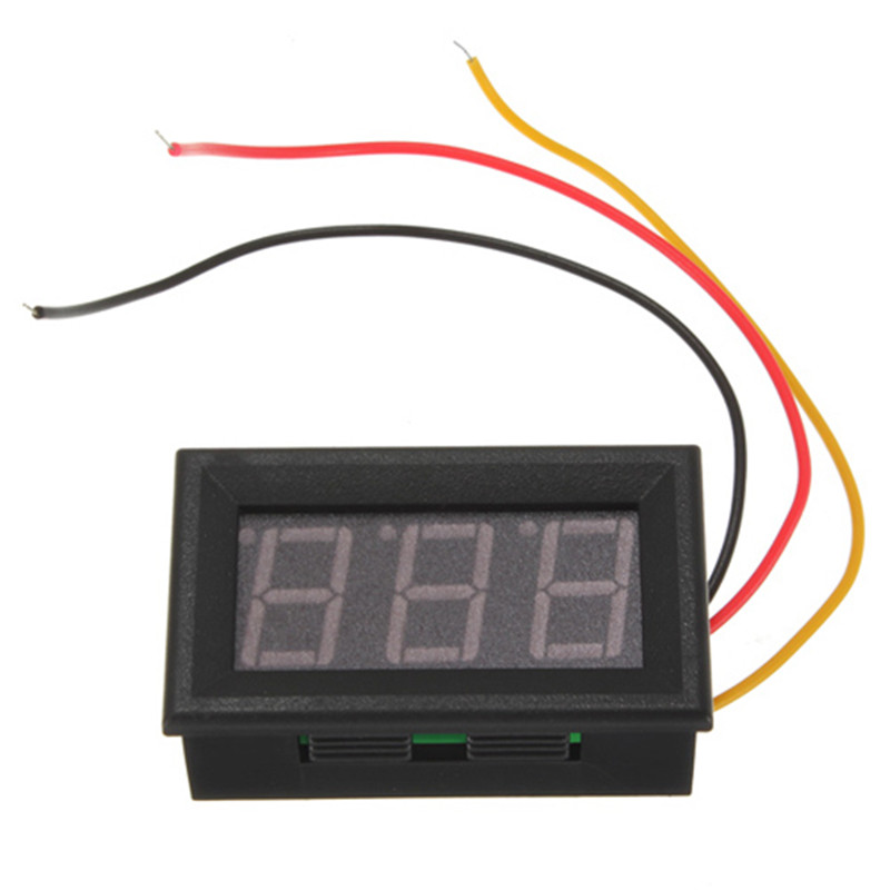2016 High Quality Red LED Panel Voltage Meter Mini Digital Voltmeter DC 0V To 99.9V Motorcycle(China (Mainland))