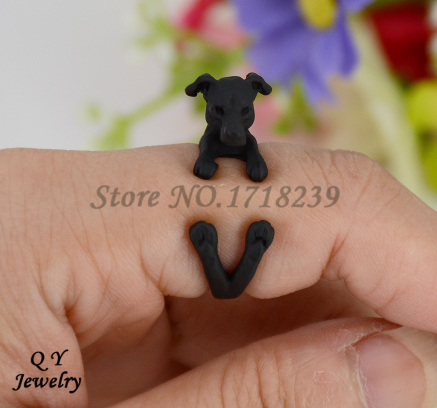 Real Pictures Punk Vintage 3D Italian Greyhound Dog Wrap Ring Boho Chic Anillos Jack Russell Rings For Women Men Fine Jewelry<br><br>Aliexpress