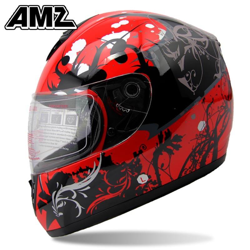 Free Shipping AMZ motorcycle helmet Amazing fiberglass retro helmet Top level full face helmet ECE DOTapproved<br><br>Aliexpress