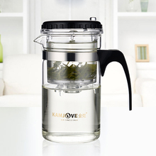 New Useful Multi purpose 200ml Glass Tea Pot with Stainless Infuser for Home Cafe Guest Personal