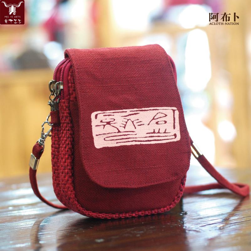 Meiyi B244 Women Ladies Wallet Purse Canvas Ethnic Coin Cell Phone Case Mini Crossbody Shoulder Bag iPhone 6 Plus Pouch Handbag(China (Mainland))