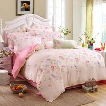 Grey bedding set 2019 summer bed linens 3or 4pcs/set duvet cover set Pastoral bed set kids / Adult bedding bedclothes queen kin(China)
