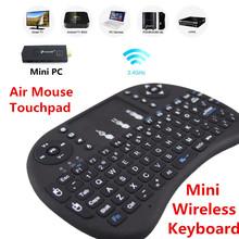 Russian English Version Mini Wireless Touchpad Keyboard 2.4GHZ QWERTY Keyboard For Meegopad T02 Mini PC Notebook Tv Box